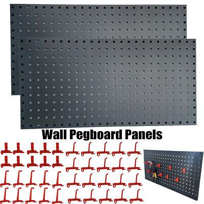 18x35 Black Metal Pegboard Panels Garage Tool Board Storage Organizer Holder