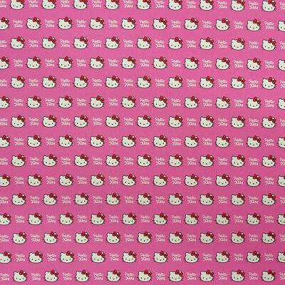 Dekostoff Hello Kitty Katze pink weiß ()