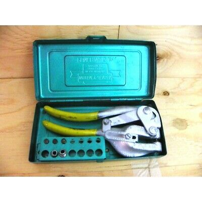 Whitney Co. Rw Jensen No.5 Jr. Hand Punch Set With Case .