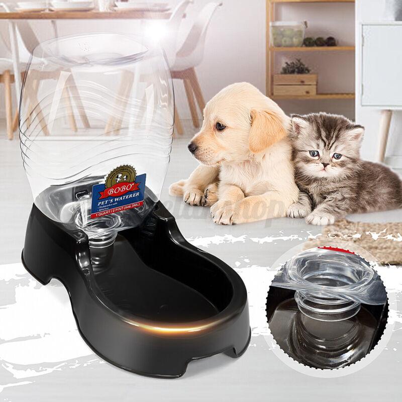 Automatic Dog Cat Pet Feeder Water Bottle Dispenser Self Feeding Bowl Dish Auto