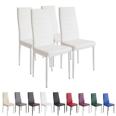 4 x Esszimmerstühle MILANO weiss Esszimmerstuhl Küchenstuhl Stuhl Stühle weiß (Esszimmer Stuhl, Moderne)