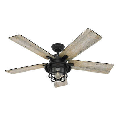 """Hunter 54"""" LED Indoor And Outdoor Coral Gables Ceiling Fan,"""