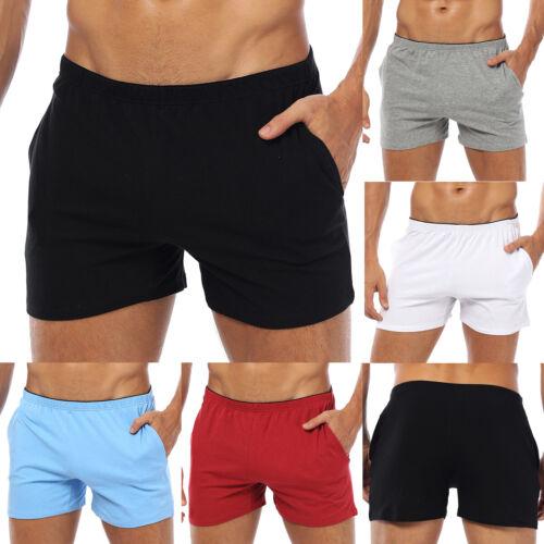 Fashion Breathable Men Shorts Cotton Gym Sports Running Slee