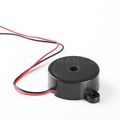 Black 12v High-decibel Audible Electronic Buzzer Beeper Continous Beep