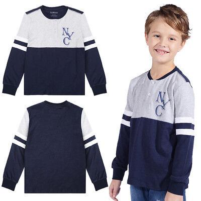 Kids Baseball Costumes (Kids Boys Children Casual Baseball T-shirt Long Sleeve Cotton Tee Tops)