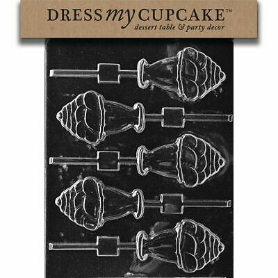 - Ice Cream Themed Chocolate Candy Lollipop Mold, Decorating Tools Various Designs