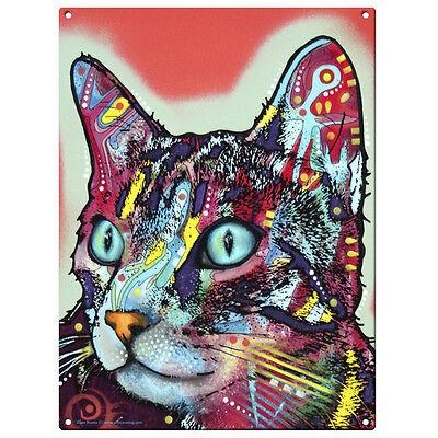 Curious Cat Dean Russo Pop Art Metal Sign Pet Steel Wall Decor 12 x 16