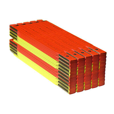 Zwei 2 Holz (10x BMI Zollstock Holz 200cm zweifarbig Neon Farben Gliedermaßstab Zollstöcke 2m)