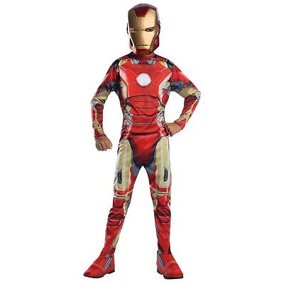 Iron Man Costume Kids Avengers Superhero Halloween Fancy Dress (Kids Superhero Halloween Costumes)