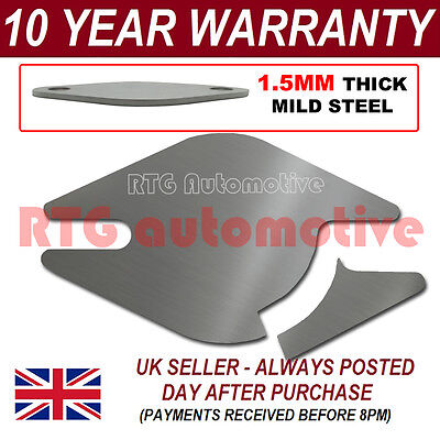CITROEN RELAY EASY FIT EGR EXHAUST VALVE BLANKING PLATE 1.5MM STEEL NA