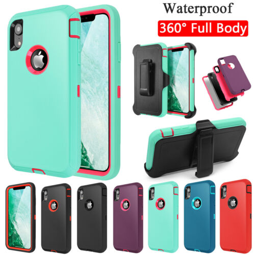 For iPhone XS Max XR X /6s/6/7/8 Plus Shockproof Heavy Duty