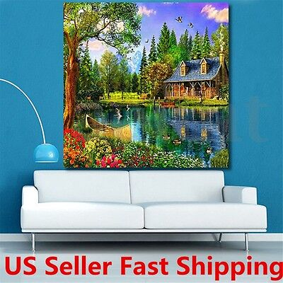 5D DIY Rural Diamond Painting Rhinestone Embroidery Cross Stitch Kit Home Decor