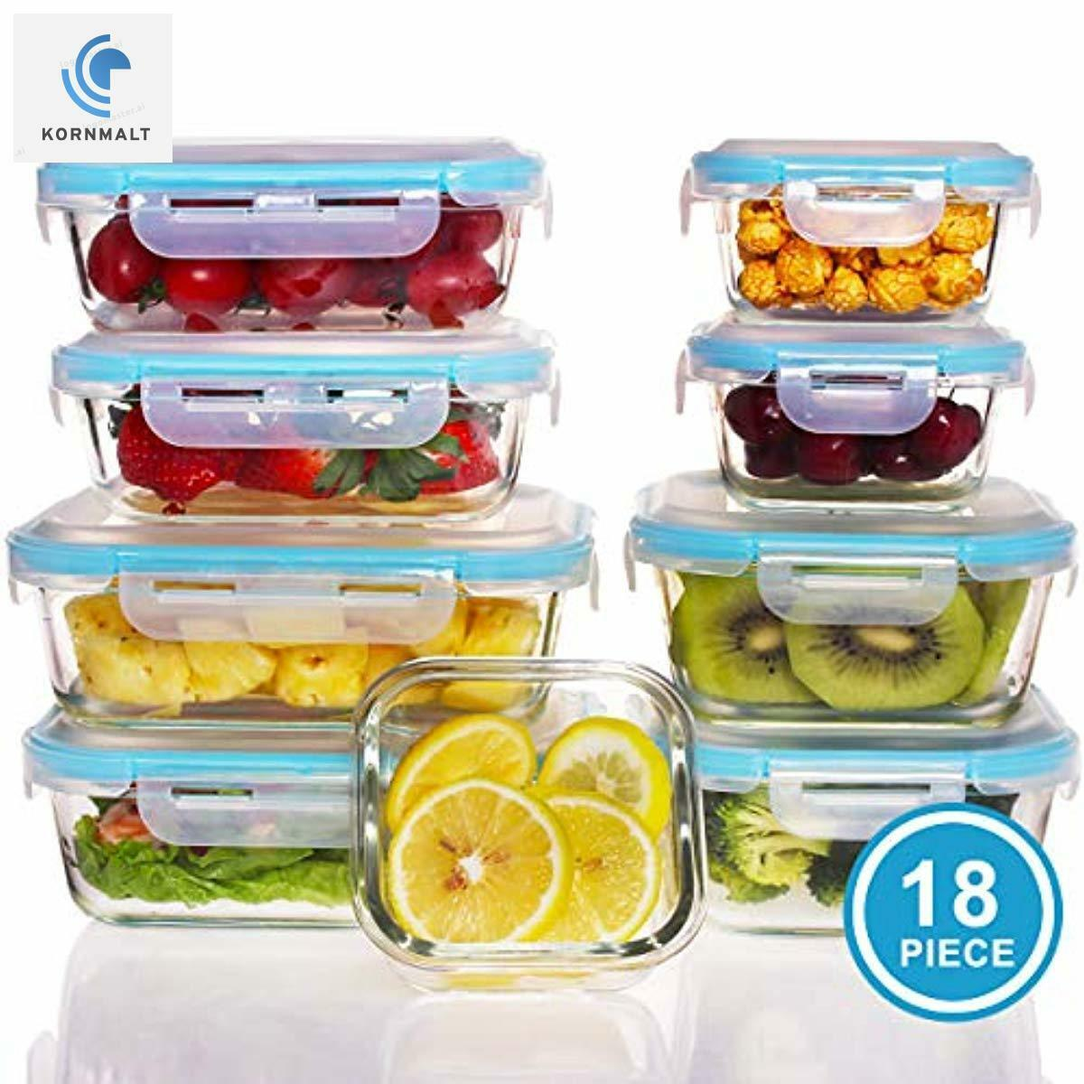 Glass Food Storage Containers with Lids - Food Prep Bento Bo