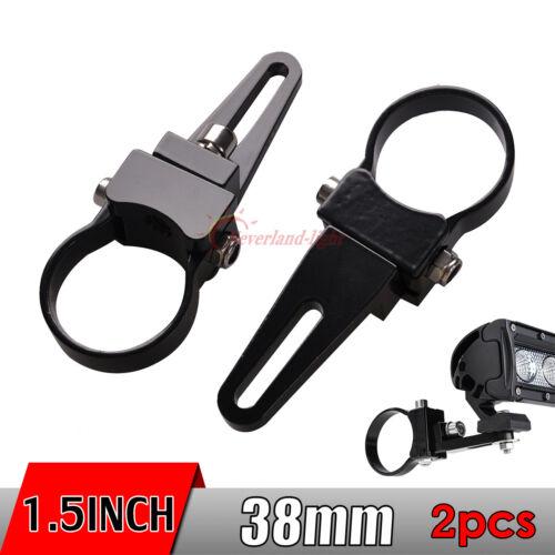 2x 1 5  U0026quot  38mm Halterung Halter Klammer F U00fcr Led Bar Arbeitsscheinwerfer Off