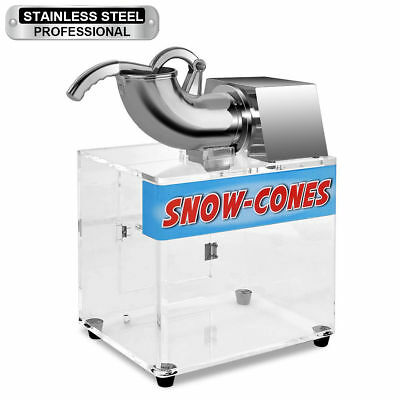 Commercial Vendor Electric Snow Cone Ice Shaver Maker Shaving Crusher Machine