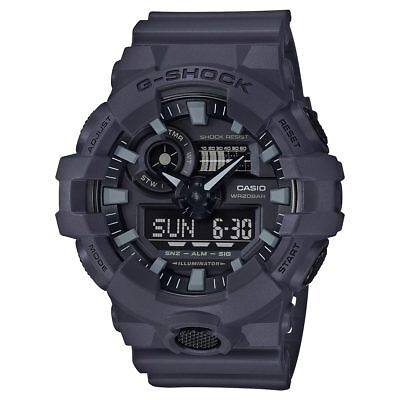 NEW Casio G-SHOCK GA700UC-8A Super Illuminator 3D Ana-Digital Men's Watch | GRAY
