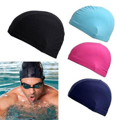 78b6e81c7c 4PCS Unisex Elastic Swimming Cap Nylon Bathing Swim Hat Caps Cover  USWarehouse