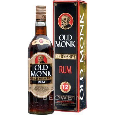 Old Monk Gold Reserve 12 Jahre 0,7 l dunkler Rum aus Indien