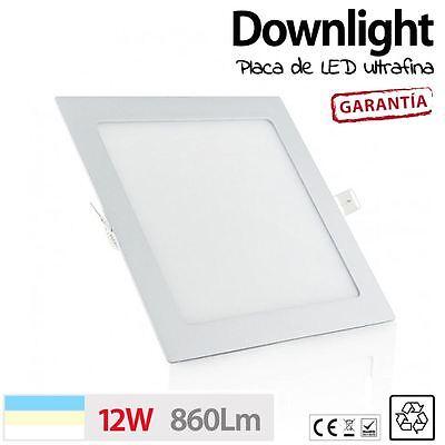 Downlight placa de LED CUADRADO 12W 60 LED techo cocina baño luz...