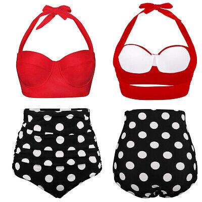 Women Bikini Push Up 2 Piece Set Swimsuit High Waist Beach Bathing Suit (Ladies 2 Piece Bathing Suits)