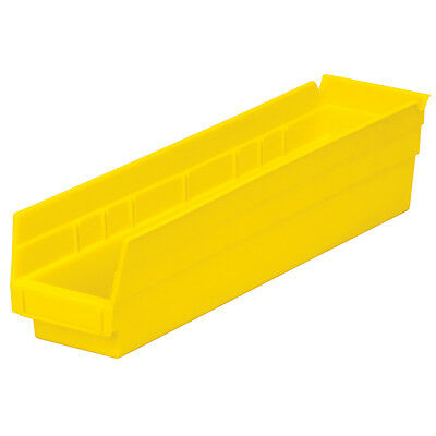 Akro-mils 30128yello Shelf Bin 17-78d X 4-18w X 4h Yellow 12 Pack