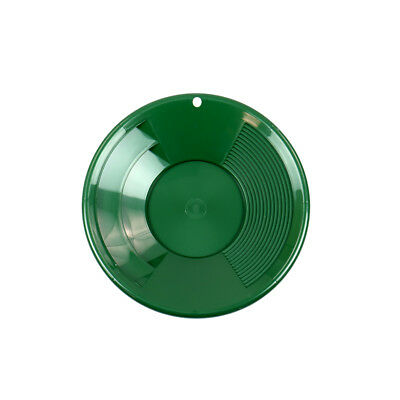8 Green Plastic Gold Pan W Shallow Deep Riffles For Gold Prospecting