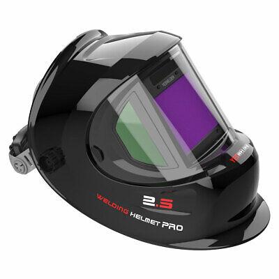 True Color Weld Mask Hood Auto Darkening Welding Helmet Side View Tig Mig Arc