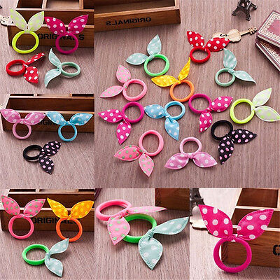 12Pcs Fashion Korean Girls Bunny Ear Headband Rabbit Ear Hair Band Bow Tie (12 Girls Band)