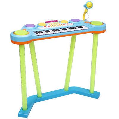 37 Key Electronic Keyboard Musical Piano Organ Drum Kids w/ Microphone MP3 Input