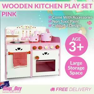 Free Delivery: Children Wooden Pretend Kitchen Play Set Kids Hom Melbourne CBD Melbourne City Preview