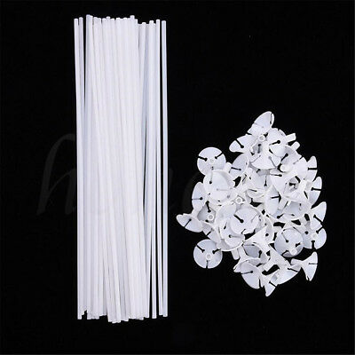 50Pcs Party Festival Wedding Appliance Plastic Balloon Holder Sticks and Cups - Balloons And Parties