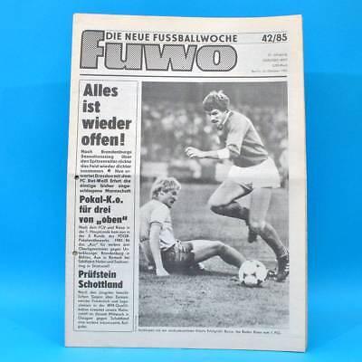 DDR FuWo 42/1985 Jena-Aue 4:1 BFC-FCK 2:0 Riesa-Union 3:2 FDGB-Pokal 2. Runde A