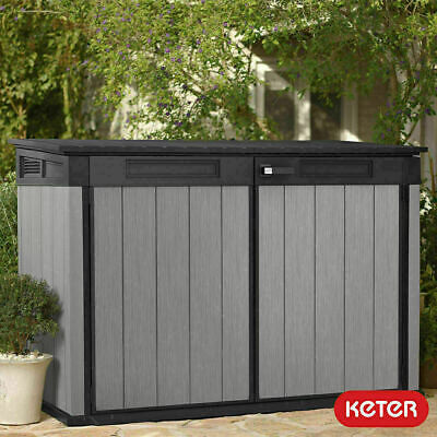 "Keter Grande Store 6ft 3"" x 3ft 7"" (1.9 x 1.1 m) Horizontal Storage Shed garden"