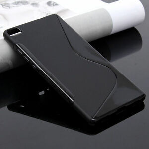 Housse etui coque silicone gel huawei p8 lite noir ebay for Housse huawei p8 lite