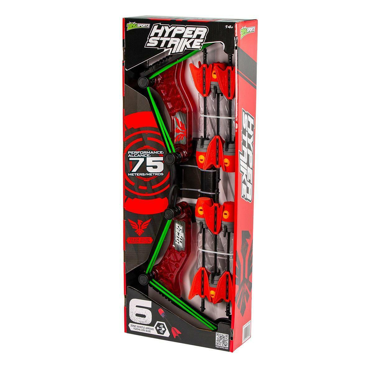 Hyper Strike Bow And Zonic Whistle Arrows, Red NEW - $31.00