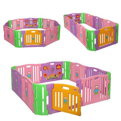 12 Playpen Baby Kids Panel Safety Play Center Yard Home Indoor Outdoor Pen - Baby Yard