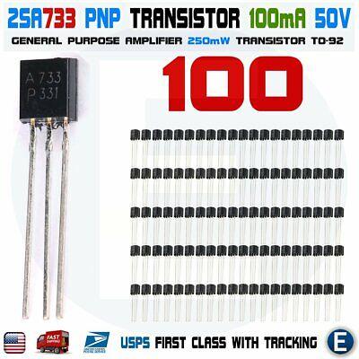 100pcs 2sa733 Amplifier Nec To-92 Transistor A733 A 733