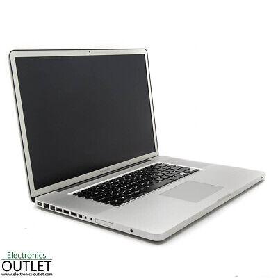 Apple MacBook Pro 17 2009 Intel Core 2 Duo 8GB RAM 256GB SSD OSX Yosemite Nvidia