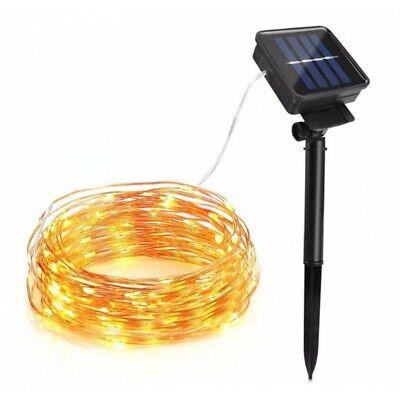 10M 100 LED Solar Power String Light Outdoor LED Copper Wire IP65 Fairy Lighting