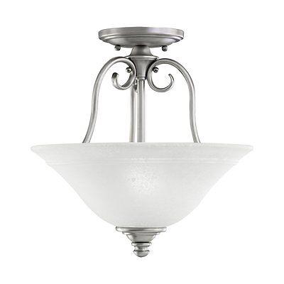 (Kichler Lighting 3650AP 2 Light Northampton Semi Flush Ceiling Antique Pewter)