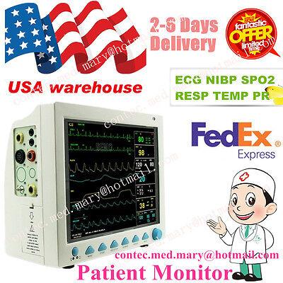Usa Sell Fda Multiparameter Icu Ccu Patient Monitor Ecgnibpspo2resptemppr