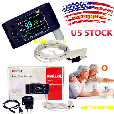 Usa Handheld Pulse Oximeter Spo2 Monitorveterinaryblood Oxygencms60csoftware