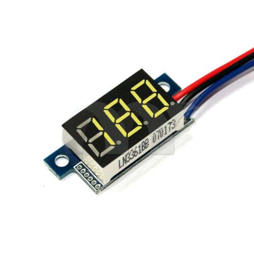 Mini DC 0-200V 3-Wire Voltmeter LED Display Volt Meter Digital Panel MeterYellow