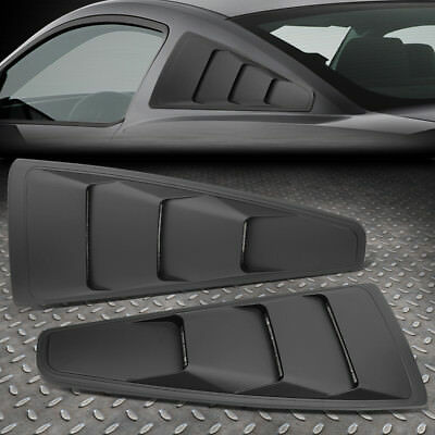 FOR 05-14 FORD MUSTANG COUPE PAIR VINTAGE STYLE REAR QUARTER SIDE WINDOW LOUVERS