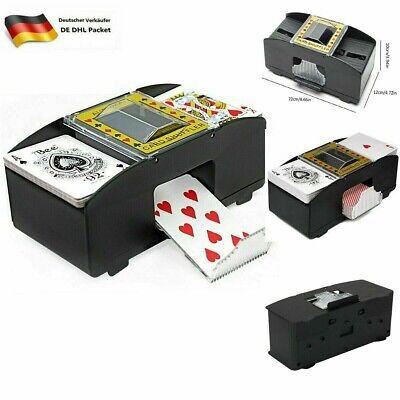 2 Decks Elektrisch Kartenmischgerät Automatische Poker Kartenmischmaschine Neu