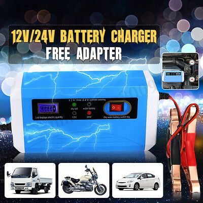 12/24V Smart Car Battery Charger Maintainer Motorcycle Car Truck Jump Starter
