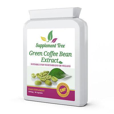 Extracto De Granos Verdes cafe 5000mg 90 Cápsulas; 50% ácido clorogénico GCA