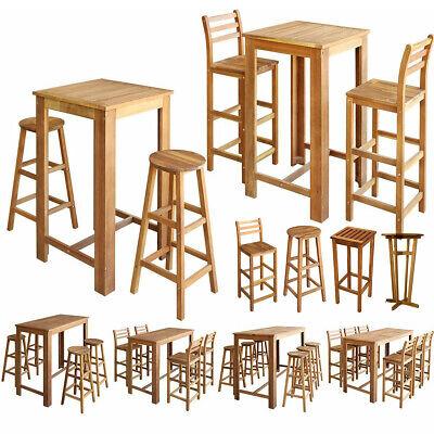 Bartisch Barstühle Barstuhl Barhocker Set Akazienholz Massiv Holz Stühle Tisch