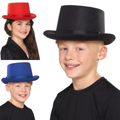 Child Size Top Hat (Kids Childs Size Top Hat Topper Showbiz Dance Boys Girls Fancy Dress)