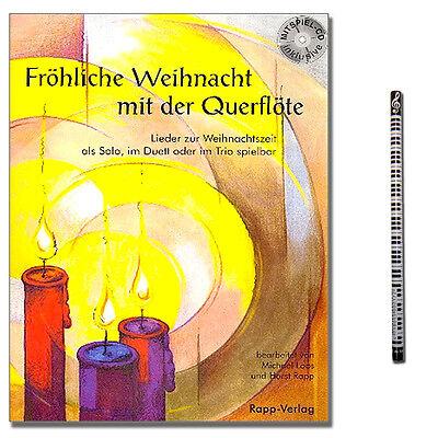Fröhliche Weihnacht mit der Querflöte mit CD und praktischem Bleistift GN234452